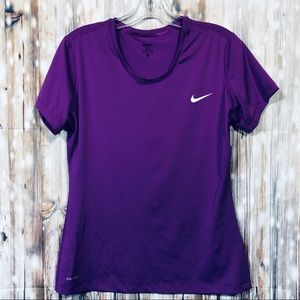 Nike Stretch T-Shirt purple Size XL Dri-Tec